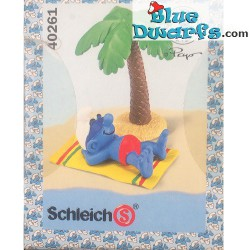 40261: Holiday Smurf with palmtree (Super smurf/MIB)
