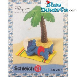 40261: Holiday Smurf with palmtree (Super smurf/MIB)