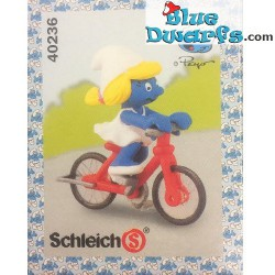 40236: Schlumpfine auf Fahrrad (Super Schlumpf)
