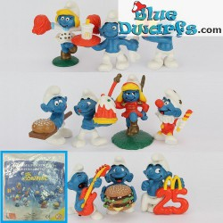 PROMO: Mc Donalds Set 1996 (10 puffi)