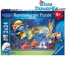 Smurf puzzle The lost village *Ravensburger* 2x24