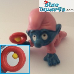 20202: Babysmurf with pink rattle