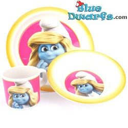 Breakfast set of 3 items (smurfette)
