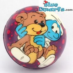 Schlümpfe (Stress) Bäll: Baby Schlumpf mit Teddy PU (62 mm)