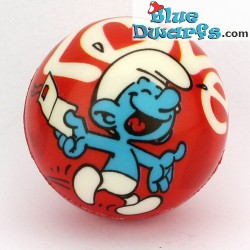 Smurf PU ball: Smurf with Love letter RED (62 mm) *stressball*