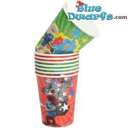 8 x  *Smurfs 3: SMURFS II* cups