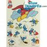 Wall sticker smurfs *Cake Smurf* (+/- 37 x 29cm)
