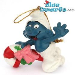 51907: Christmas Smurf Riding Candy cane