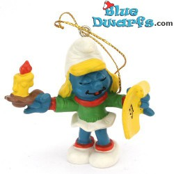 51909: Christmas Smurfette Candle & sheet
