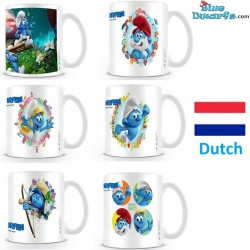 1 x The lost village smurf mug/ VERLOREN DORP  (32,5 cl)