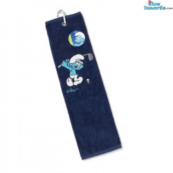 Golf Bathtowel: Golf smurf with stick