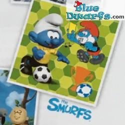 20904- 20909:  6x 2018 Fussball Schlümpfe Schleich