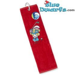 Een rechthoekige handdoek: Golfsmurf (blauw)