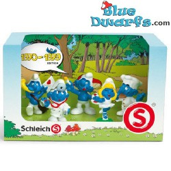1960-1969: displaybox with 5 smurfs (anniversary edition, 2008)