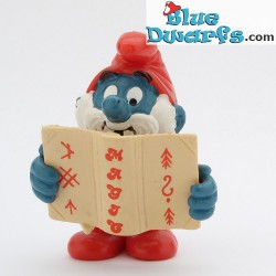 20174: Pappa smurf with book (Promo: Silan)