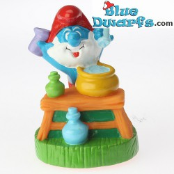 Papa smurf with Lab Glasses *Candytopper*  (BIP Holland, +/- 8cm)