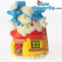 Row Boat Smurf *Candytopper*  (BIP Holland, +/- 8cm)