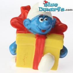 Present Smurf *Candytopper*  (BIP Holland, +/- 8cm)