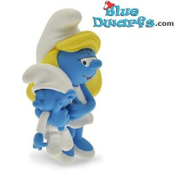 Plastoy Smurfette with Baby