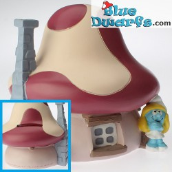 Paben: Smurf house orange +/- 11 cm (moneybox)