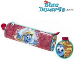 "Hefty smurf pencil case ""The lost village"" (+/- 20x6cm)"