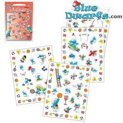 4x Smurf stickers *Baby smurf* (+/- 17x22cm)