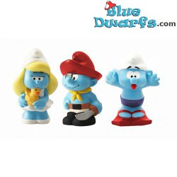 Plastoy smurfs: 3 bathtoys (Set 2017)