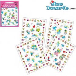 4x Smurf stickers *Smurfette* (+/- 17x22cm)