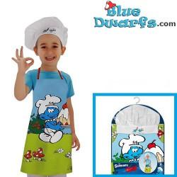 Keukenschort + Koksmuts Smurfen (3-8 jaar)