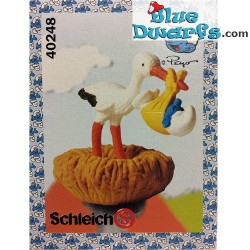40248: Storch mit Baby Schlumpf (Super Schlumpf)