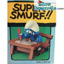 40220: School desk Smurf with pen