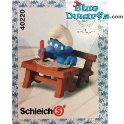 40220: School desk Smurf with pen