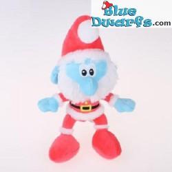 Smurfen knuffel: Kerstman smurf (+/- 30 cm)