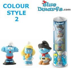 4 giocattoli da bagno (Set 1: Nuotatore, anatra, sirena e il pesce)