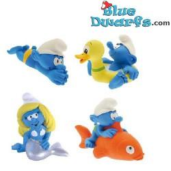 Plastoy: 4 bathtoys (Set 1: swimmer, duck, mermaid and fish)