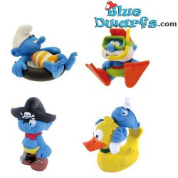 Plastoy: 4 bathtoys (Set 2: workaholic,  swimming pappa, pirate, duck)