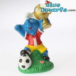 Winner smurf with award *Candytopper* (BIP Holland, +/- 8cm)