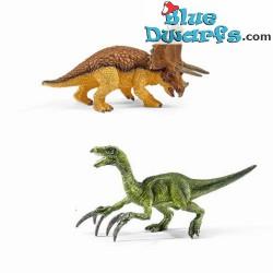Kit de dinosaures: Petits tyrannosaure Rex et velociraptor (Schleich/ 42217)