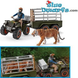 Schleich Wildlife: Quad bike with trailer and ranger (42351)