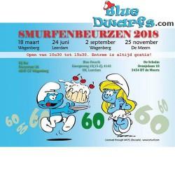 Carte postale: Bourse des Collectionneurs de Schtroumpfs 2018 (15 x 10,5 cm)