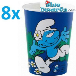 8 x *smurfette* paper cups