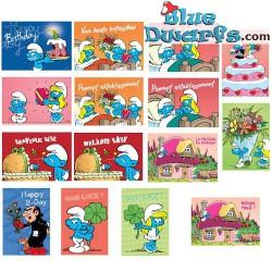 Tarjeta postal 2018: 15 x Tarjeta postal Los pitufos (15 x 10,5 cm)