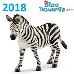 Schleich Wildlife 2018:  Zebra Stute (14810, +/-12 x9 x 4 cm)