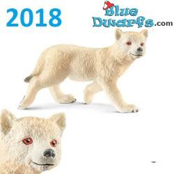Schleich Wildlife 2018: Artic wolf cub (14804, +/-6 x4 x 3 cm)