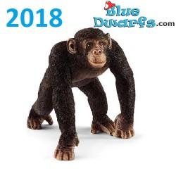 Schleich Wildlife 2018: Chimpansee man (14817, +/-6 x 6 x 4 cm)