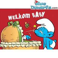 """Carte postale: """"Bienvenue bébé"""" (15 x 10,5 cm)"""