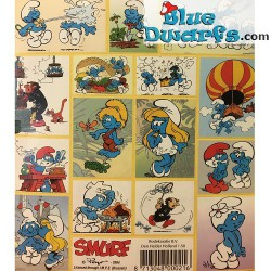 Smurf stickers *Air balloon* (+/- 15x15cm)