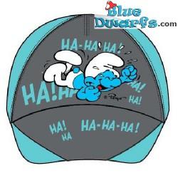 """Smurf cap """"Ha Ha Ha"""" (+/- 54cm)"""