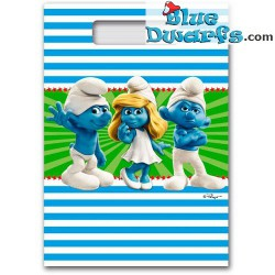 8 x party bags  *Clumsy/smurfette/grouchy* (+/- 24*17 cm)