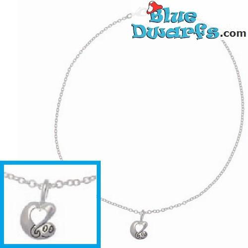 Barbapapa children necklace SILVER COLOR (+/- 40cm)